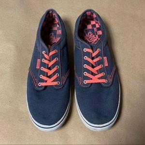 Vans Navy & Coral Authentic Lo PRO Skate Shoes